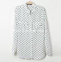 женщины с длинными рукавами шифон / большой размер рубашка / блузка