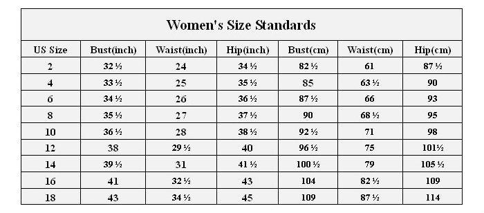 women\'s size standards