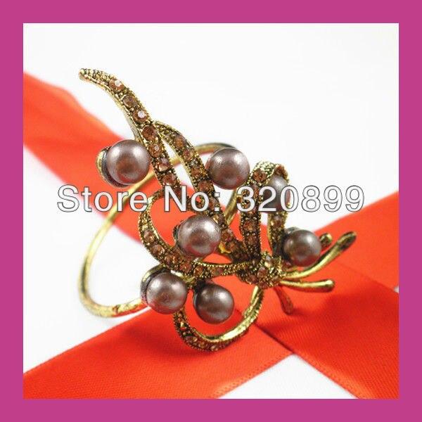 200pieces lot) wholesale! metal rhinestone napkin rings for table ... d833cc62de6b