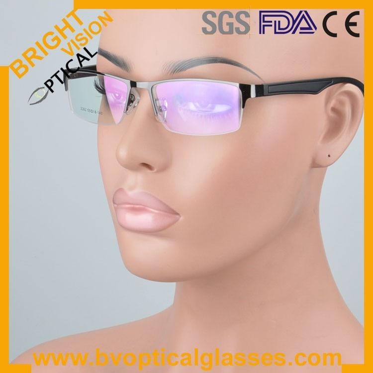 New model half rim metal optical frames glasses2262hui
