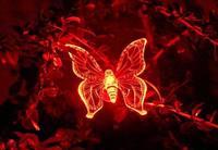 новинка солнечный красочный бабочка лёгкие управление лёгкие сад украшения газон лампа