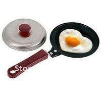 бесплатная доставка сковорода, мини прекрасные формы яйцо, кук + крышка, не - палка