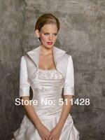 элегантный на заказ половина рукава атласная болеро для свадебное платье, пиджак люкс