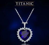 продвижение подарок титаник память ожерелье - в форме сердца океана в форме сердца ожерелье мода ювелирных изделий бесплатная доставка