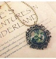 минимальный. заказ $ 10 мода ожерелье металл ожерелье кошка кулон античная ожерелье бесплатная доставка kp050