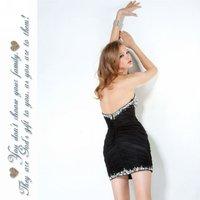 мода сексуальное милая органза мини сложите стандартный код коктейльные платья