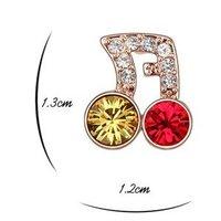 для женщин Musical не дизайн с элементами Сваровски переехал кристалл серьги-гвоздики на день святого валентина подарок 5884