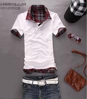 мужчины в короткий рукав т рубашка мужские хлопок лайкра т - рубашки 4 цвета м-XXL mpl001