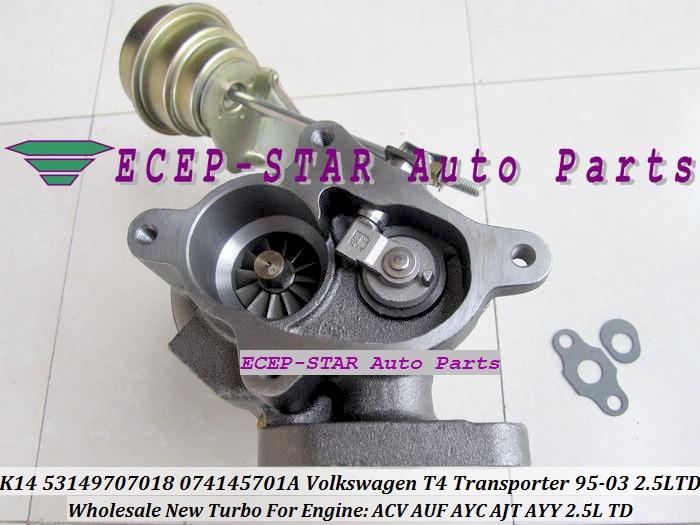 K14 53149707018 074145701A Turbo Turbine Turbocharger Volkswagen VW T4 Transporter 1995-2003 2.5L TD ACV AUF AYC AJT AYY (7)