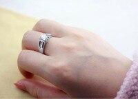 бесплатная доставка 18 к белый Порше мода глаз стекло женщины кольцо 934050