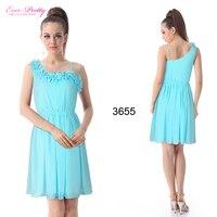 he03655bl голубой Chef асимметричная цветок коктейль платья