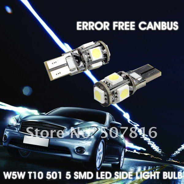 автомобиль ЛГ 10 шт. / много автомобиль шины canbus из светодиодов лампа ошибка Т10 W5W и 194 5050 СМД 5 из светодиодов белый лампы ЛГ