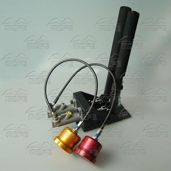Oil Tank Reservoir Dual Double Twin 0.75 inch Master Cylinders Lever Lockable Vertical Drift Rally Handbrake Hydraulic DSC_0297