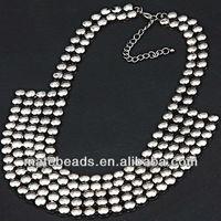 ожерелье 2 шт./лот популярные мода ювелирных изделий модный дизайн многослойный коренастый себе нагрудник семян бусины оптовая продажа, jw0120-2