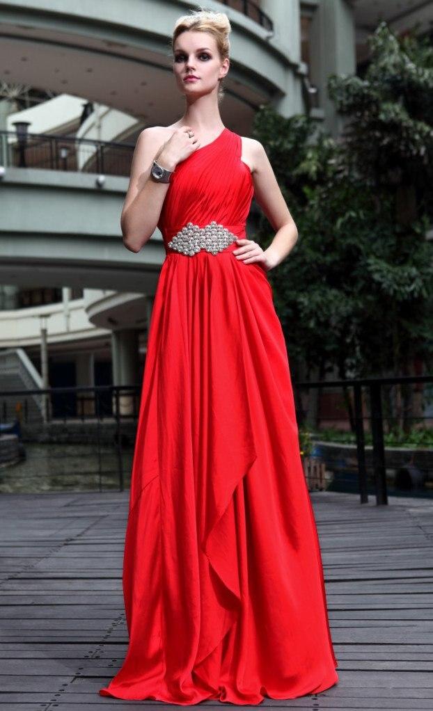 Robe grecque rouge