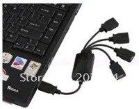 бесплатная доставка оптовая продажа осьминог USB-концентратор 4 разъём. порт USB 2.0.удобно