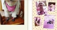 оптовая продажа 10 комп./40 шт. выберите 6 цветов 7 размеров домашних носки для собак водонепроницаемый мода против весы собака сапоги и ботинки для девочек для маленький щенок и большая собака