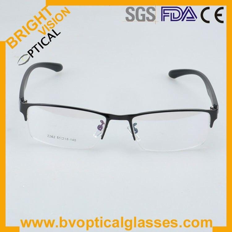 New model half rim metal optical frames glasses2262hei-2