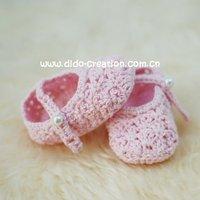 1pairdd07007e ручной работы вязка крючком laden дети обувь обувь для laden 0 - 6 месяц 3, 5