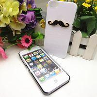 чехол для яблоко iPhone 5, горячая леон чаплин сексуальный 3D и борода усы жёсткая задняя часть чехол пару и влюблённые
