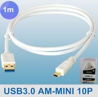 розничная упаковка USB кабель дл для mini10p с USB кабель мини 0.6 м 2ft Сид 4.8 гб/с поддержка, бесплатная доставка по экспресс