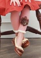 бесплатная доставка детская леггинсы чистого цвет цветы леггинсы 100 - 140 см 3 цвет весна / осень