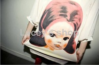 новая женская мода о шеи 3/4 платье с рукавами женская большой размер платья печать шифон дизайнерское платье бесплатная доставка s051