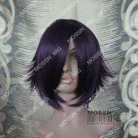 вокалоид мику косплей темно-синий парик хвост