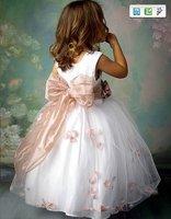 бесплатная доставка 2011 бестселлер цветок платье для девочки ЛР-c059