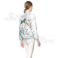 новое поступление лето мода феникс картины и цветок печать с длинным рукавом свободного покроя с коротким женский пиджак 151