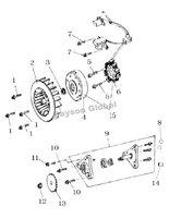 статора ассамблея тип-3 магнито пластина скутер частей бесплатная доставка @ 61344