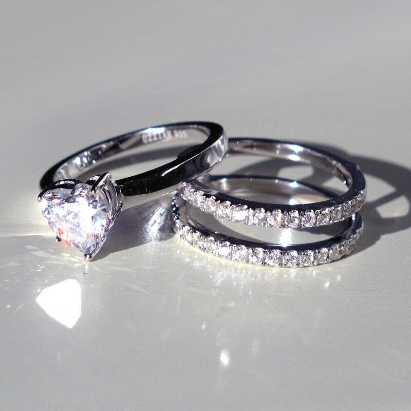 Aliexpresscom Buy Luxury 925 Sterling Silver Love Heart Wedding