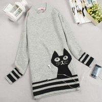бесплатная доставка распродажа женщины свитер леди свитер женская зимняя одежда цвет : серый белый