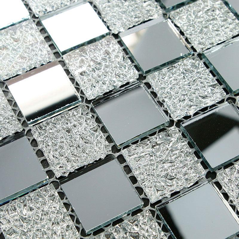 Crystal Glass Tiles Sheet Diamond Mosaic Art Wall Sticker Kitchen