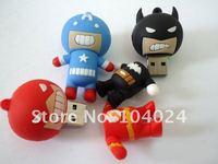 4 гб 8 гб 16 гб 32 гб мультфильм бэтмен флэш-супер человек USB на флэш-накопитель ручка капитан америка и диск