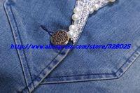 женщина осень-Кори Scout мода верхняя одежда женщин sin джинсы куртки леди старинные пальто кружево джинсы куртка