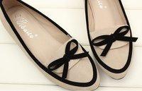 лето новинка комфортного отдыха бантом круглый носок женские балетки женская обувь 2 цвет
