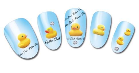 переброски вод ногтей наклейки наклейка симпатичные желтая утка дизайн декоративные маникюр тиснение фольгой инструменты