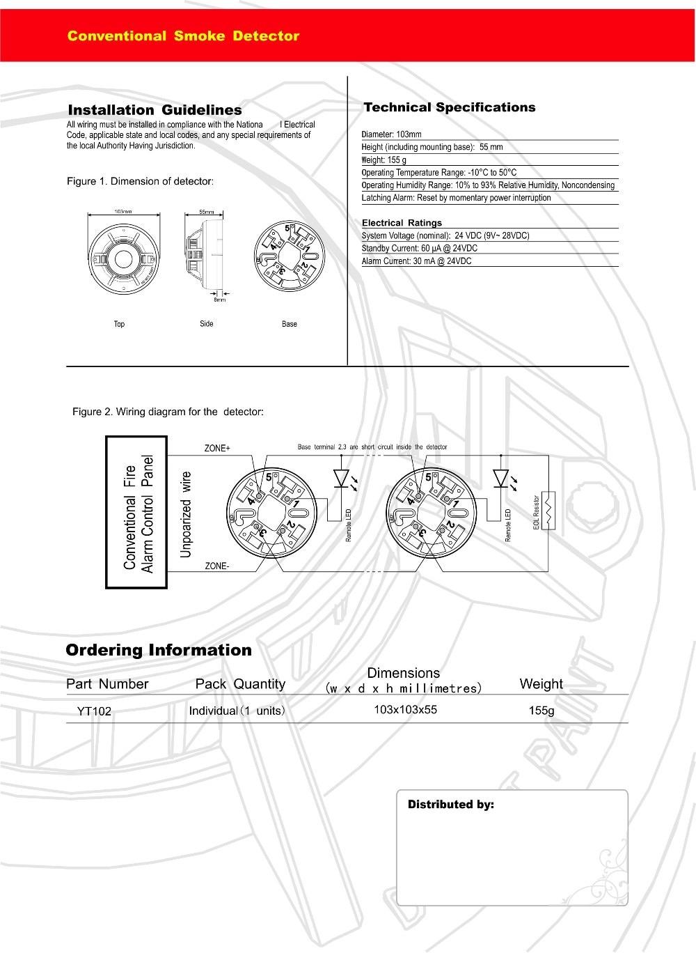 conventional fire alarm panel wiring diagram advance mark 10 ballast detector library 2 wire smoke optical rh aliexpress com system sensor