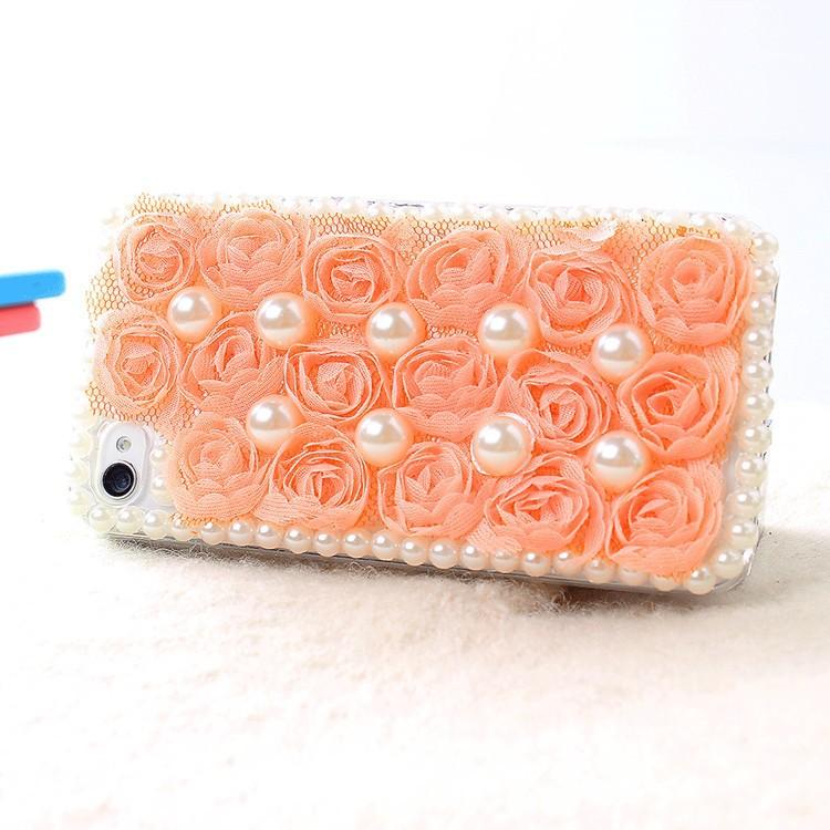чехол для iPhone 5 и 5s, жемчуг кружево роза для iPhone 5 и 5s поколения жемчуг защиты