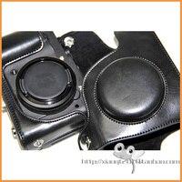 черный кожа камеры чехол обложка сумка для цифровых фотокамер Никон фотокамера Coolpix p7700 в