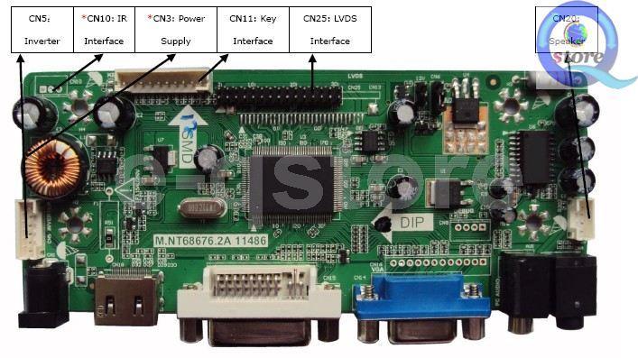 S2 TL HDMI+DVI+VGA Controller Board Driver kit for LCD Panel LP156WH3