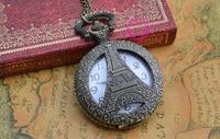 оптовая продажа цена высокое качество леди девушку новый урожай классический бронзовый эйфелева Ban Karma часы ожерелье цепь час