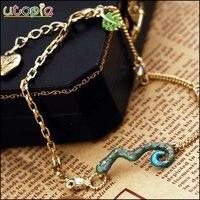 БЖ мода лодыжке браслет и кольцо установить бесплатная доставка смешанный заказ-змея # nr188