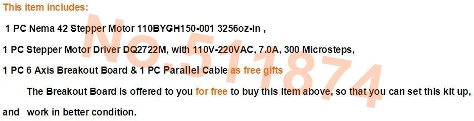 New arrival!USA free!Wantai CNC Kit Nema42 Stepper Motor Driver DQ2722MA 220V 7A