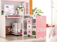 детская комната мебель комплект - 3 купе, кровать, ванна, стол ручка 605 # розовый и белый