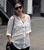 горяч-прод мода женская Chef большой карман белая рубашка. высокое качество