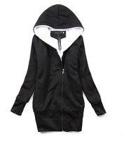 бесплатная доставка корея женская худи пальто теплый на молнии верхняя одежда кофты-от p07