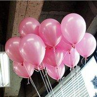 бесплатная доставка продать высокое качество 100 шт./лот 10 дюймов латекс натуральный сын колокольчиков розовый шар питания