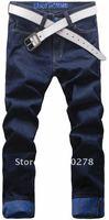 бесплатная доставка сзт мужские джинсы тонкий Fit классические джинсы прямые брюки ноги синие размер 28 - 36 дешевые синий желтый красный к25